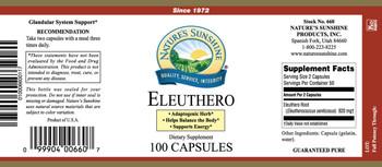ELEUTHERO (100 caps) (Old Name Siberian Ginseng)