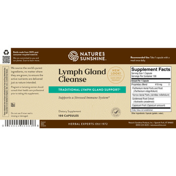 LYMPH GLAND CLEANSE (100 Caps) [KO] - Can not ship to California - On B/O From NSP until: No Date