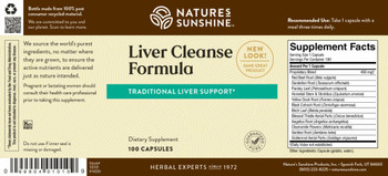 LIVER CLEANSE FORMULA (100 Caps) [KO] On B/O From NSP until: 11/15/21