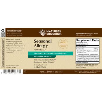Seasonal Allergy (Formerly ALJ) (100 Caps) [Ko] On B/O From NSP until: 10/14/21