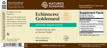 ECHINACEA/GOLDEN SEAL (100 Caps) [KO]