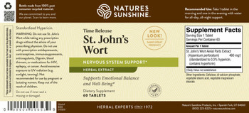ST JOHN'S WORT CONCENTRATE TIME-RELEASE (60 Tabs)