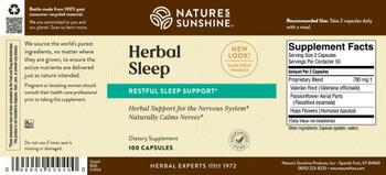 HERBAL SLEEP (100 Caps) [KO]