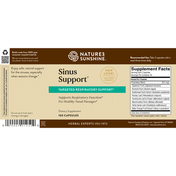 SINUS SUPPORT EF® (100 Caps) [KO]