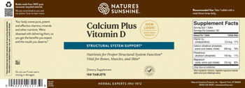 CALCIUM PLUS VITAMIN D (150 Tabs)(KO)