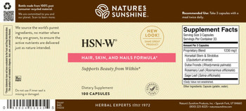 HSN-W® (100 Caps) [KO]