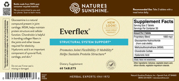 EVERFLEX® W/HYALURONIC ACID JOINT SUPPORT (60 Tabs)