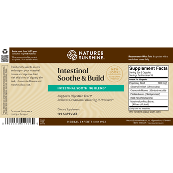 INTESTINAL SOOTHE & BUILD (100 Caps) [KO] On B/O From NSP until: 5/20/21