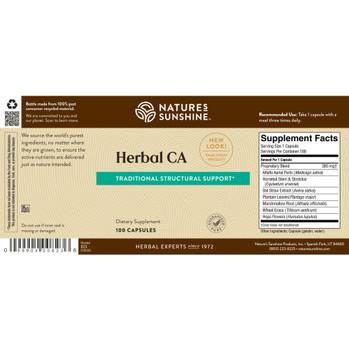 HERBAL CA (100) On B/O From NSP until: 5/20/21