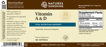Vitamin A & D (10,000/400 IU)(100 Soft Gel Caps)