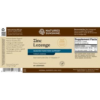 ZINC LOZENGE (60 Tabs)