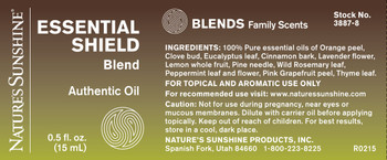 ESSENTIAL SHIELD OIL BLEND (15ml) Not Available Until: 5/21/20