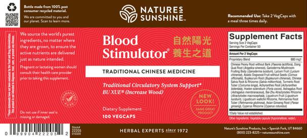 BLOOD STIMULATOR, CHINESE (100 Vegi-Caps)