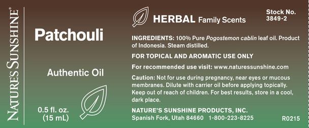 PATCHOULI ESSENTIAL OIL(15 ml)
