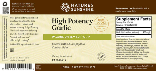 GARLIC HIGH POTENCY SYNERPRO (60)