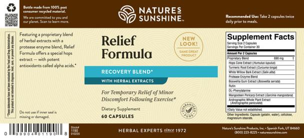 Relief Formula (Exercise Formula) (60 Caps)