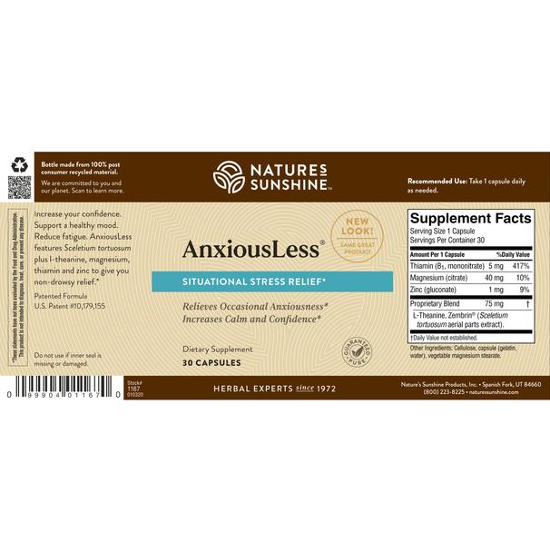 AnxiousLess™ (30 Caps)