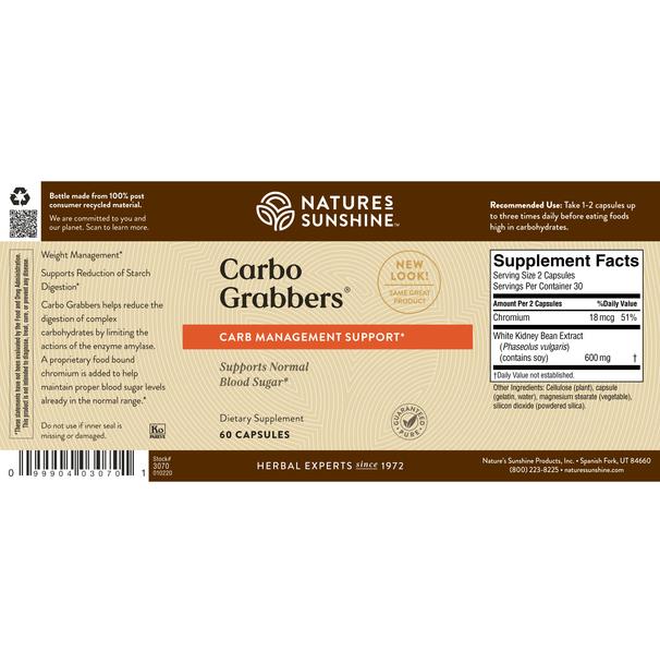 CARBO GRABBERS WITH CHROMIUM (60 Caps) [KO]