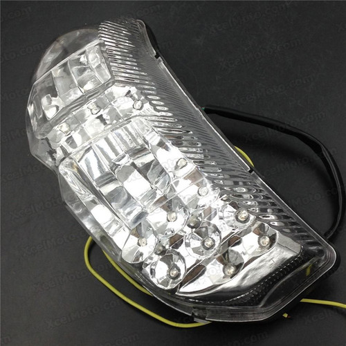 The LED turn signals integrated taillights assembly was compatible with 2006 2007 2008 2009 2010 Yamaha FZ1 FAZER, this taillights combines tail lights and turn signals into one unit and are more functional.