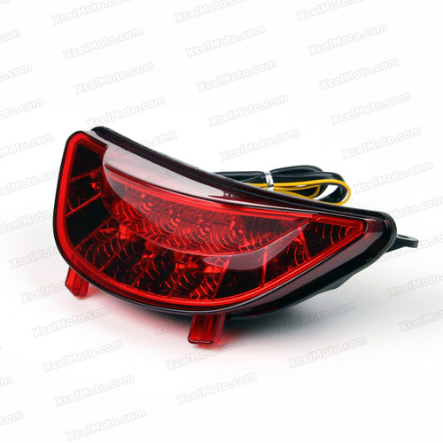 The LED turn signals integrated taillights assembly was compatible with 2009 2010 2011 2012 2013 2014 Yamaha VMAX 1700, this taillights combines tail lights and turn signals into one unit and are more functional.