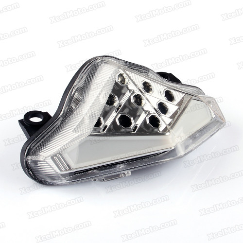 The LED turn signals integrated taillights assembly was compatible with 2012 2013 2014 2015 Kawasaki Ninja 650R ER-6f/n, this taillights combines tail lights and turn signals into one unit and are more functional.