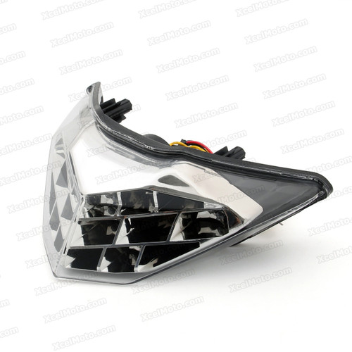 The LED turn signals integrated taillights assembly was compatible with 2013 2014 Kawasaki Ninja 300, this taillights combines tail lights and turn signals into one unit and are more functional.