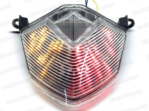 The LED turn signals integrated taillights assembly was compatible with 2007 to 2012 Kawasaki Z750, this taillights combines tail lights and turn signals into one unit and are more functional.