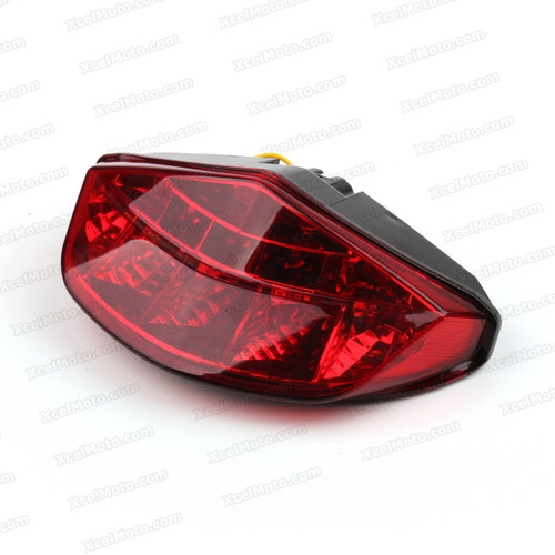 The LED turn signals integrated taillights assembly was compatible with Ducati 696 / 795 / 796 / M1100, this taillights combines tail lights and turn signals into one unit and are more functional.