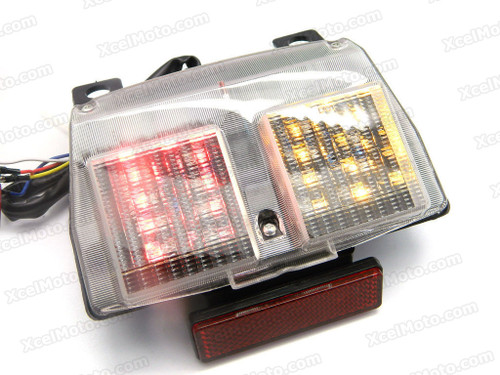 The LED turn signals integrated taillights assembly was compatible with Ducati 748/916/996/998, this taillights combines tail lights and turn signals into one unit and are more functional.