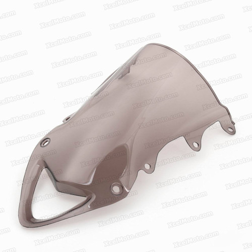 Motorcycle Racing Windscreen for 2009 to 2014 BMW S1000RR, formed with a wedge-shaped bubble in the center of the windscreen, the racing windscreen is an efficient design that deflects wind off the rider, allowing higher speeds and improved rider comfort.