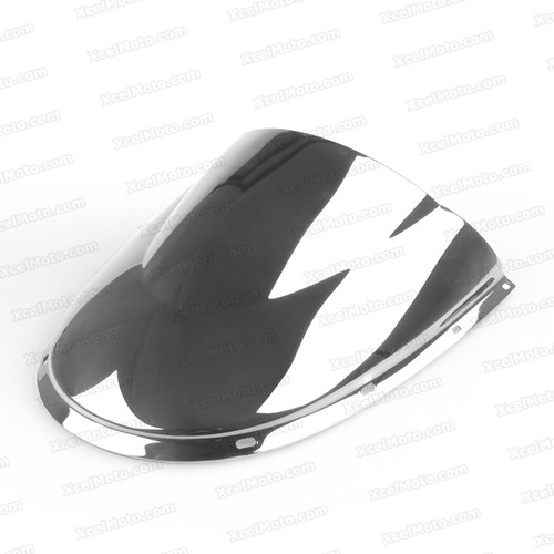 Motorcycle racing windscreen for Ducati 748/916/996/998, formed with a wedge-shaped bubble in the center of the windscreen, the racing windscreen is an efficient design that deflects wind off the rider, allowing higher speeds and improved rider comfort.
