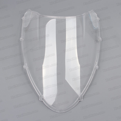 Motorcycle racing windscreen for Ducati 848/1098/1198, formed with a wedge-shaped bubble in the center of the windscreen, the racing windscreen is an efficient design that deflects wind off the rider, allowing higher speeds and improved rider comfort.