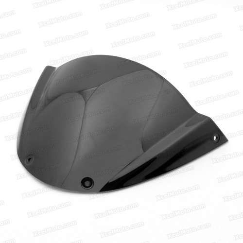 Motorcycle racing windscreen for Ducati Monster 659/696/795/796/M1000, formed with a wedge-shaped bubble in the center of the windscreen, the racing windscreen is an efficient design that deflects wind off the rider, allowing higher speeds and improved rider comfort.