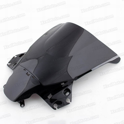 Motorcycle racing windscreen for 2012 2013 Honda CBR250R, formed with a wedge-shaped bubble in the center of the windscreen, the racing windscreen is an efficient design that deflects wind off the rider, allowing higher speeds and improved rider comfort.
