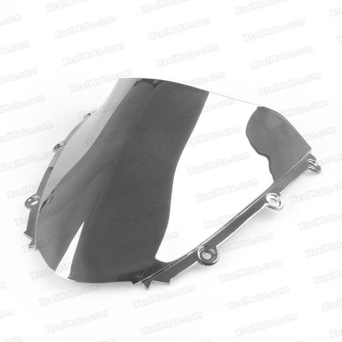 Motorcycle racing bubble windscreen for 2004 2005 2006 2007 Honda CBR1000RR, formed with a wedge-shaped bubble in the center of the windscreen, the racing windscreen is an efficient design that deflects wind off the rider, allowing higher speeds and improved rider comfort.