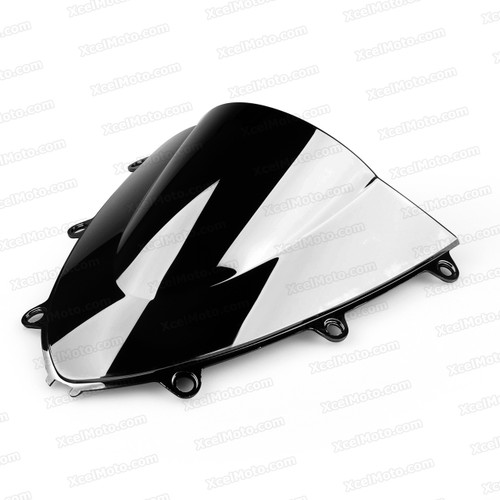 Motorcycle racing bubble windscreen for 2008 2009 2010 2011 Honda CBR1000RR, formed with a wedge-shaped bubble in the center of the windscreen, the racing windscreen is an efficient design that deflects wind off the rider, allowing higher speeds and improved rider comfort.