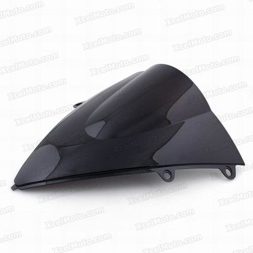 Motorcycle racing bubble windscreen for 2012 2013 2014 Honda CBR1000RR, formed with a wedge-shaped bubble in the center of the windscreen, the racing windscreen is an efficient design that deflects wind off the rider, allowing higher speeds and improved rider comfort.