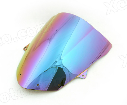 Motorcycle racing bubble windscreen for 2008 2009 2010 Kawasaki Ninja ZX-10R, formed with a wedge-shaped bubble in the center of the windscreen, the racing windscreen is an efficient design that deflects wind off the rider, allowing higher speeds and improved rider comfort.