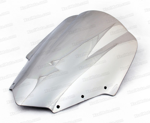 Motorcycle racing bubble windscreen for 2006 to 2015 Yamaha FZ1 Fazer / FZS1000 Fazer, formed with a wedge-shaped bubble in the center of the windscreen, the racing windscreen is an efficient design that deflects wind off the rider, allowing higher speeds and improved rider comfort.