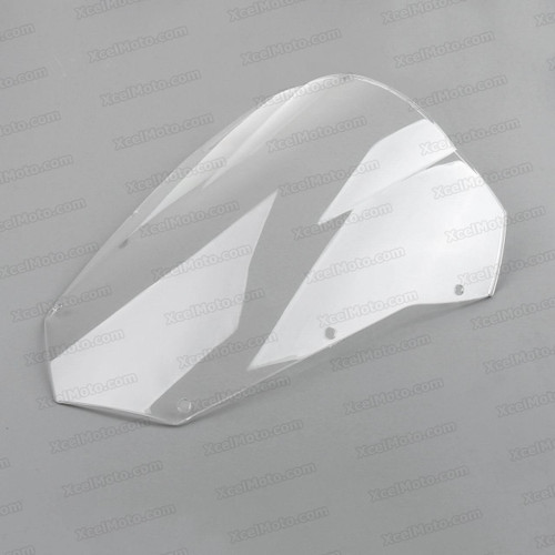 Motorcycle racing bubble windscreen for 2007 2008 2009 Yamaha FZ6 Fazer, formed with a wedge-shaped bubble in the center of the windscreen, the racing windscreen is an efficient design that deflects wind off the rider, allowing higher speeds and improved rider comfort.