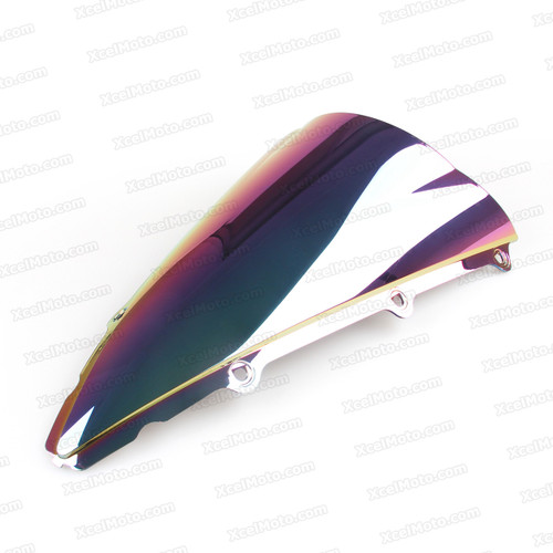 Motorcycle racing bubble windscreen for 2002 2003 Yamaha YZF-R1, formed with a wedge-shaped bubble in the center of the windscreen, the racing windscreen is an efficient design that deflects wind off the rider, allowing higher speeds and improved rider comfort.