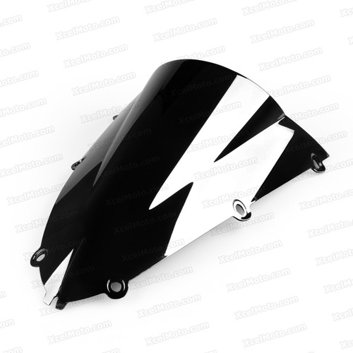 Motorcycle racing bubble windscreen for 1998 1999 Yamaha YZF-R1, formed with a wedge-shaped bubble in the center of the windscreen, the racing windscreen is an efficient design that deflects wind off the rider, allowing higher speeds and improved rider comfort.