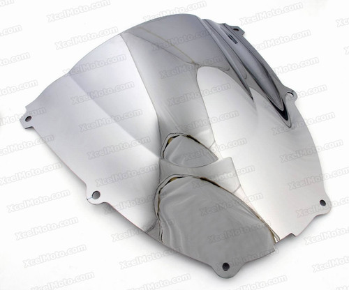 Motorcycle racing bubble windscreen for 1999 to 2006 Yamaha YZF600R, formed with a wedge-shaped bubble in the center of the windscreen, the racing windscreen is an efficient design that deflects wind off the rider, allowing higher speeds and improved rider comfort.