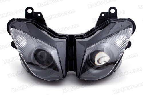 Motorcycle headlight/headlamp assembly kit for 2008 2009 2010 Kawasaki Ninja ZX-10R.