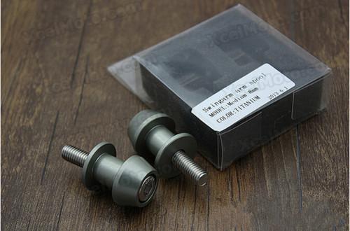 Motorcycle Swingarm Spools, motorcycle swingram bobbins, Aluminium Made With 6mm, 8mm, 10mm thread options.