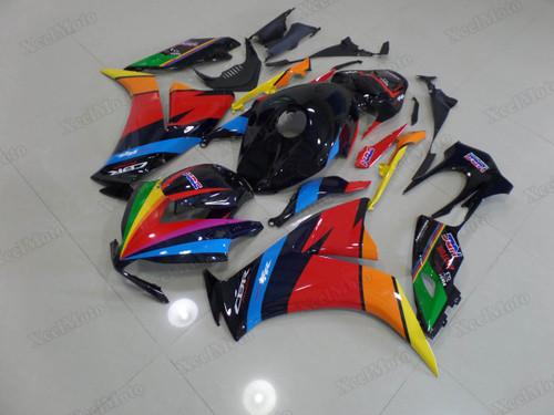 2012 2013 2014 2015 2016 Honda CBR1000RR Fireblade custom rainbow scheme fairings and body kits, Honda CBR1000RR Fireblade OEM replacement fairings and bodywork.