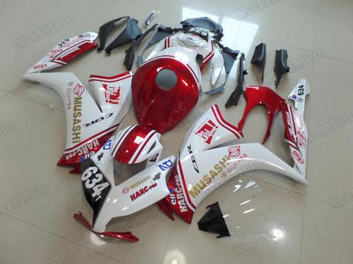 2012 2013 2014 2015 2016 Honda CBR1000RR Fireblade MuSASHi RT HARC-PRO fairings and body kits, Honda CBR1000RR Fireblade OEM replacement fairings and bodywork.