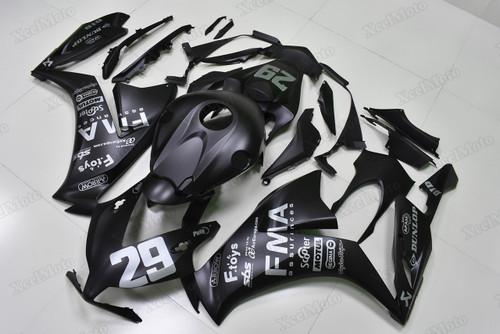 2012 2013 2014 2015 2016 Honda CBR1000RR Fireblade matte black FMA scheme custom scheme fairings and body kits, Honda CBR1000RR Fireblade OEM replacement fairings and bodywork.