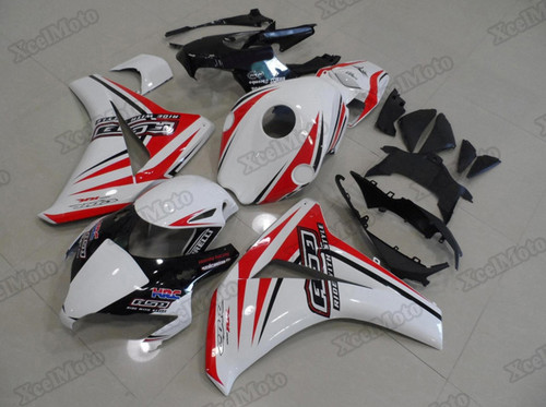 2008 2009 2010 2011 Honda CBR1000RR Fireblade white/red fairings and body kits, Honda CBR1000RR Fireblade OEM replacement fairings and bodywork.