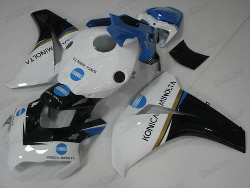 2008 2009 2010 2011 Honda CBR1000RR Fireblade konica minolta fairings and body kits, Honda CBR1000RR Fireblade OEM replacement fairings and bodywork.